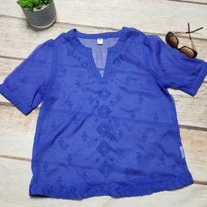 Old Navy Sheer Embroidered Top